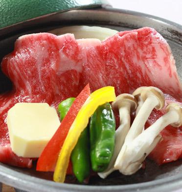 若潮牛ステーキ(陶板焼き)の写真